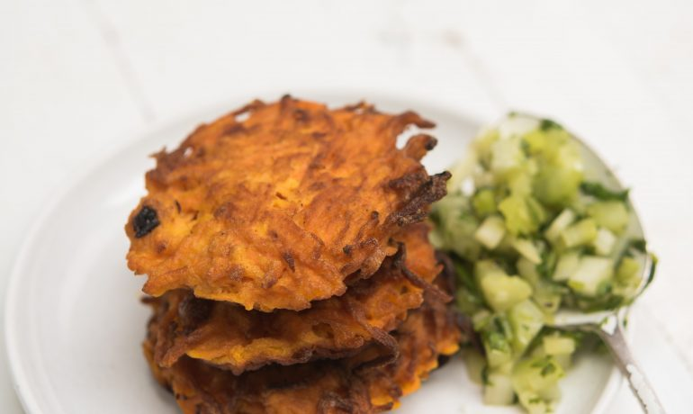 Carrot and Ginger Latkes