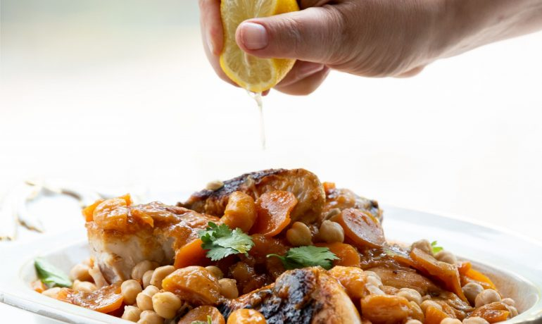 Moroccan Style Apricot chicken