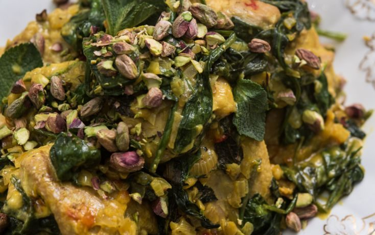 PERSIAN CHICKEN WITH SAFFRON AND PISTACHIOS