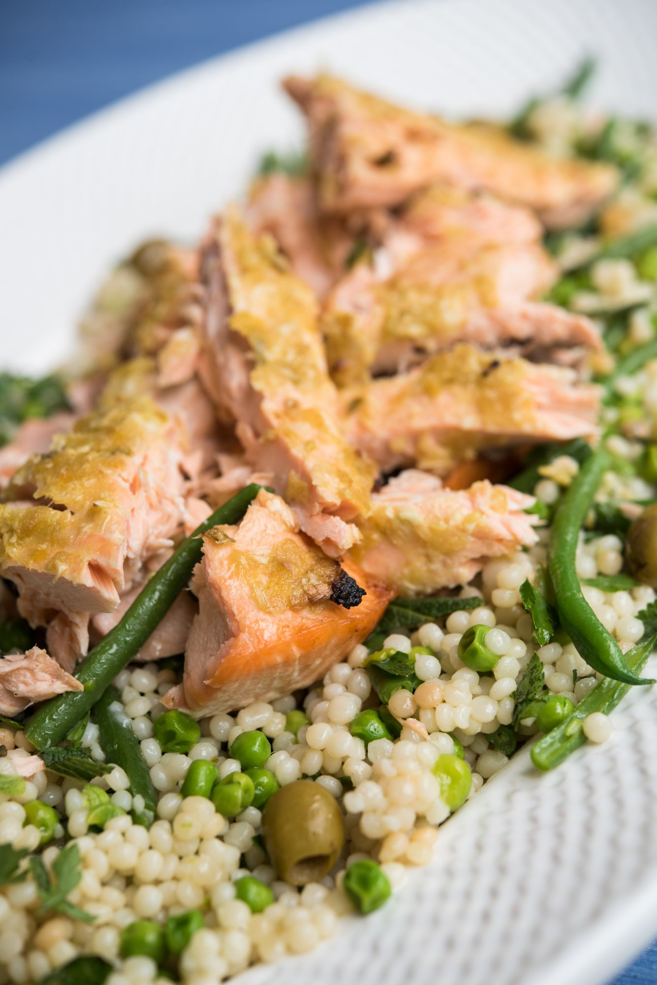 SALMON WITH PRESERVED LEMON AND ISRAELI COUSCOUS