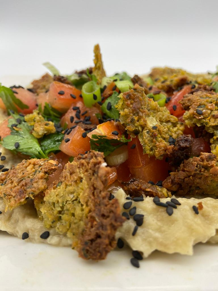 BLACKENED EGGPLANT WITH FALAFEL CRUMBS