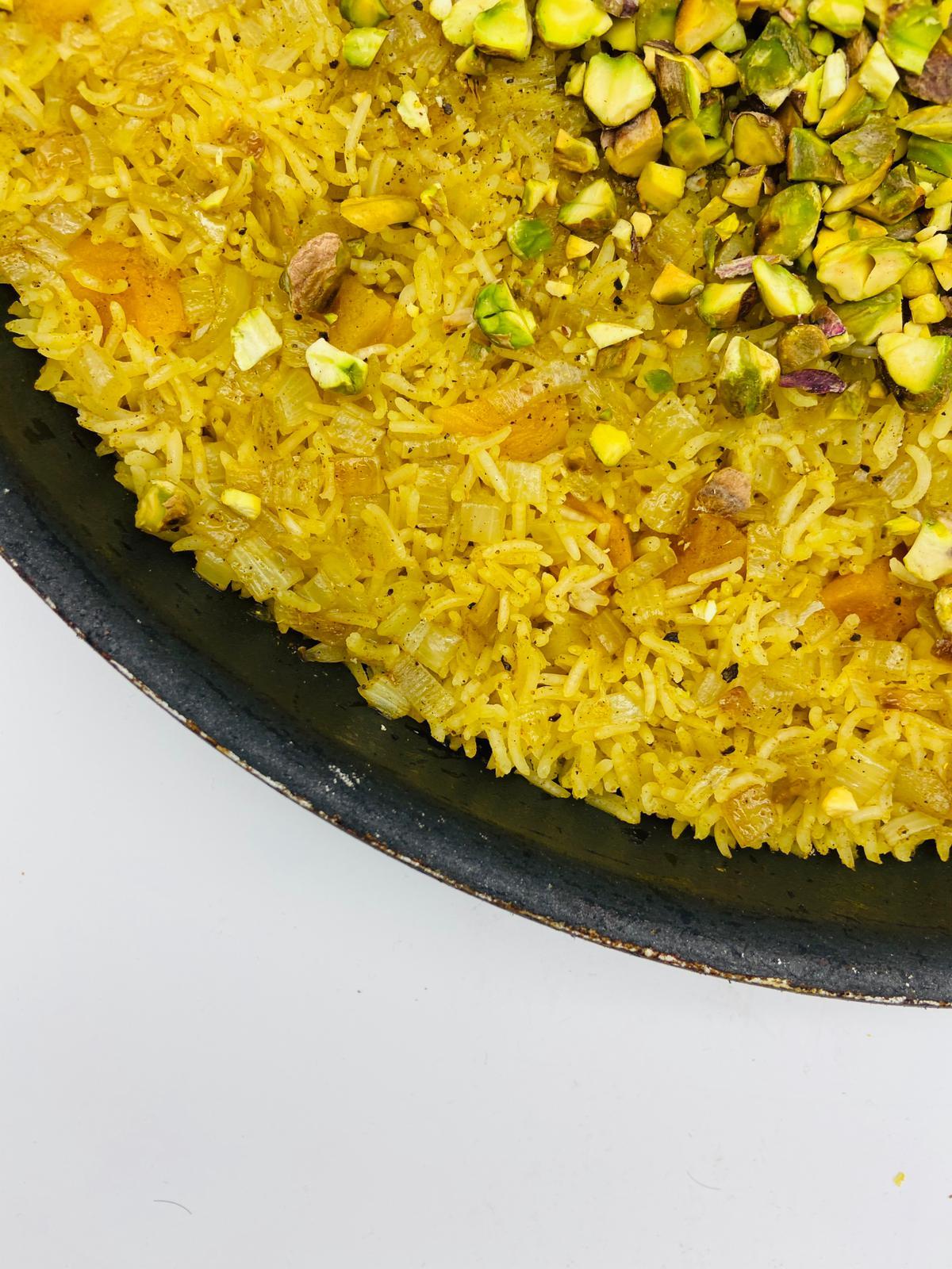 APRICOT AND PISTACHIO RICE PILAF