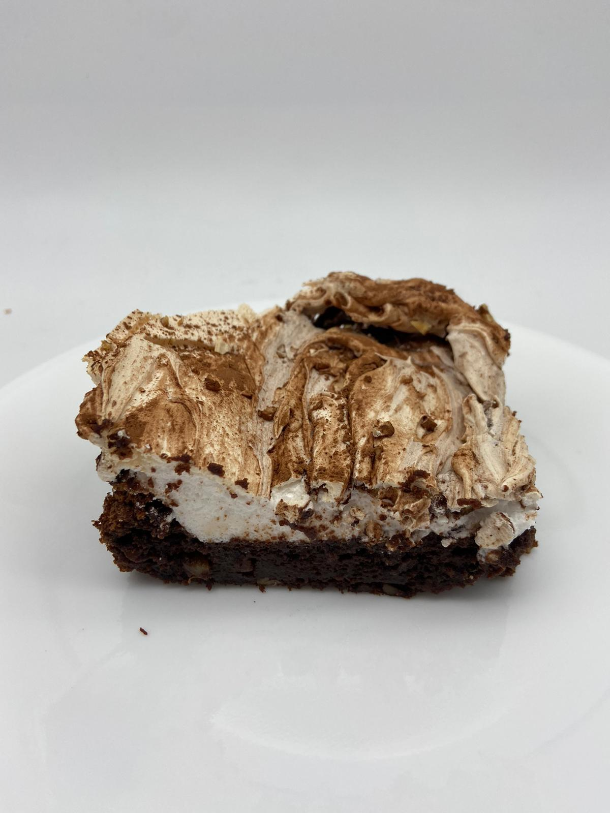 Flourless Chocolate-Pecan Cake with Meringue Topping